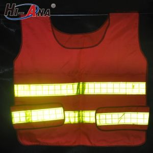 Globally Integrating Manufacturing Process High Intensity LED Light Reflective Vest pictures & photos