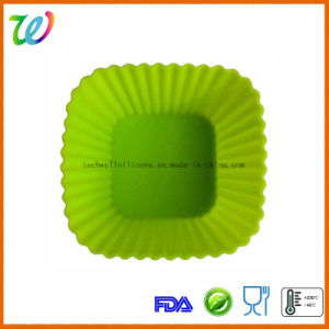Factory Wholesale FDA Approved Set of 10 Pieces Silicone Muffin Cases pictures & photos