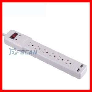 6 Outlets Power Strip with USB Ports pictures & photos