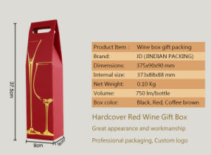Customized Red Wine Strength Corrugated Board Printed Paper Box with Window pictures & photos