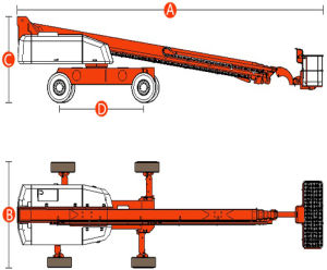 Hot Sale Telescopic Boom Lift with Max Working Height 41.3m pictures & photos