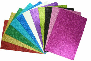 Glitter Don′t Fall Glitter EVA, Adhesive EVA Glitter Sheet pictures & photos