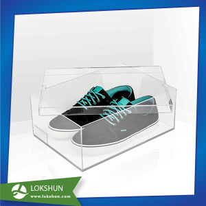 Custom Made High Quality Clear Acrylic Shoe Box/ Acrylic Sneaker Display Shoe Box pictures & photos