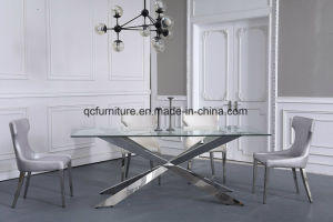 Best Price Tempered Clear Glass Dining Table pictures & photos