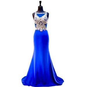 Blue Chiffon Party Prom Gowns Celebrity Evening Dresses Wd95 pictures & photos
