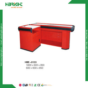 Electric Supermarket Store Cashier Checkuut Counter with Belt pictures & photos