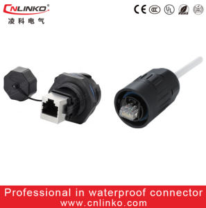 Plastic 8 Pin RJ45 Connector/ Male Female Network Connector pictures & photos