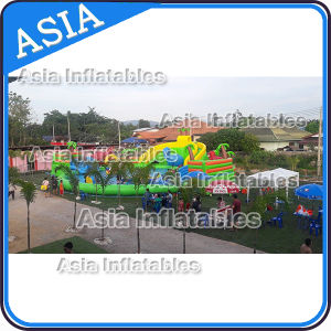 Inflatable Jurassic Theme Water Park Games with Slide pictures & photos
