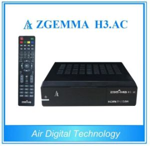 Linux OS Enigma2 Media Box FTA Zgemma H3. AC DVB-S2+ATSC Twin Tuners for America/Mexico pictures & photos