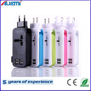 4 USB Port Portable Adapter Travel Charger