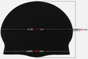 Promotional Wholesale Waterproof Silicone Swim Cap, Water Sports Swimming Cap pictures & photos