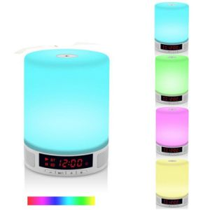 Portable Bluetooth Speaker LED Light Alarm Clock pictures & photos