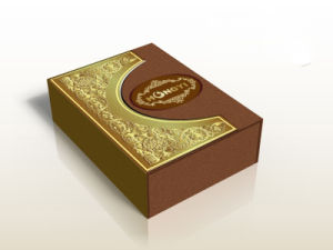 2017 Printing Paper Gold Paper for Oud Perfume Box pictures & photos
