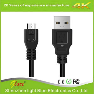 Micro USB Cable Black Support 3A Current pictures & photos