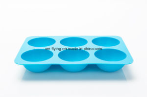 BPA Free Silicone Ice Ball Maker, 6 Cavity Ball Shape Silicone Ice Cube Tray pictures & photos