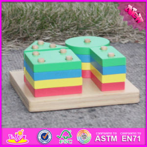 2016 Wholesale Kids Wooden Geometric Jenga Game, Educational Children Wooden Geometric Jenga Game W13D107 pictures & photos