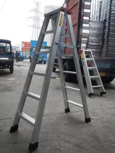 Aluminum Double Size a Ladder Household Type pictures & photos