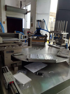 Qb-350 Model PVC-Papercard Blister Sealing Packaging Machine with Disk Table pictures & photos