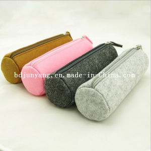 Custom Promotional Felt Round Pencil Case Bags pictures & photos