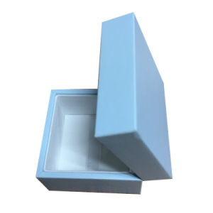 Blue Folding Jewelry Gift Box with Lid pictures & photos