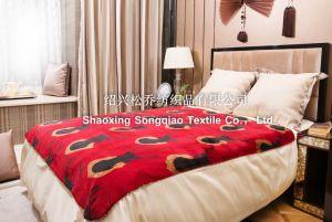 Polyester Printed Sherpa Fleece Throw - Elk pictures & photos