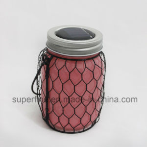 Fancy Flickering Beautiful Metal Net Glass Solar LED Light with Warm White Lights pictures & photos