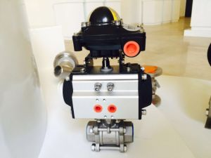 Pneumatic Ball Valve with Limit Switch Box Solenoid Valve and Air Filter Regulator pictures & photos