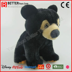 ASTM Realistic Stuffed Animal Soft Toy Plush Black Bear pictures & photos