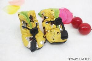 Winter Velvet Dog Rain Boot Waterproof Pet Shoes pictures & photos