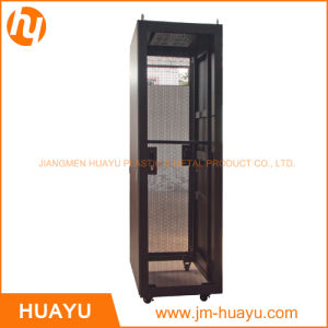 Constant Temperature 19 Inch Server Rack in Orange Color with Double Vented Rear Door Perforated Mesh Cabinet pictures & photos