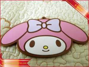 Luggage Rubber Name Tag Garment Rubber Sewing Tag pictures & photos