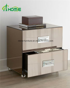 New Design Nightstand/ Bedside Table Mirrored Chest of Drawers in MDF pictures & photos