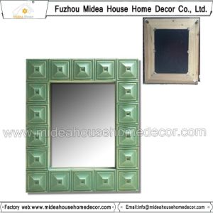 Rectangular Vintage Handmade Wooden Wall Mirror