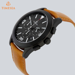 Men′s Watch Leather Fancy Chronograph Sport Watch 72408 pictures & photos