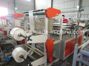 Double Deck PE Flat Bag Cold Cutting Machine pictures & photos