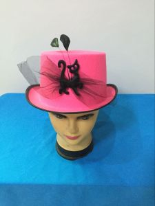 2017 Wholesale Halloween Good Quality Decoration Party Pink Hat with Cat