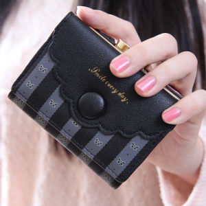 Black Clip Top Open Multifuctional Card Cash Wallet