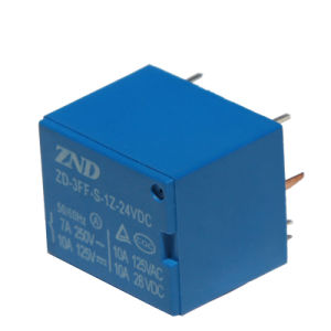 3FF (T73) Miniature Power Relay 7A 24V Electromagnetic Relay pictures & photos