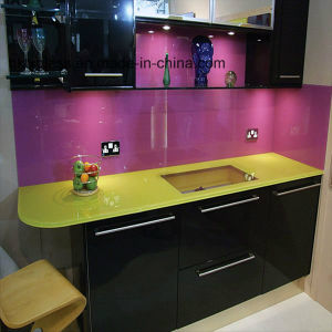 Colored Painted Glass for Kitchen pictures & photos