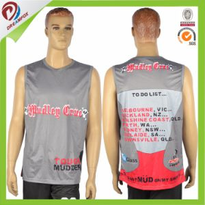 Top Selling Dry Fit Custom Design Sublimated Running Gym Singlets pictures & photos
