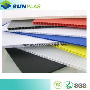 PP Hollow Sheets / PP Corrugated Plastic Board with Corona Treament for UV Printing pictures & photos