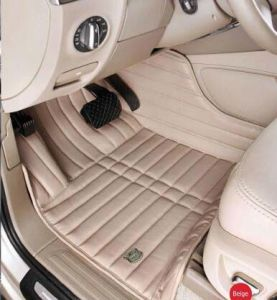Car Mats 3D with Leatherette 5-Layer in Strips Embroidery