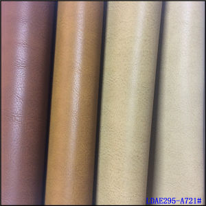 Polished PU Leather for Shoes and Boots pictures & photos