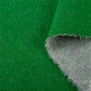 Wool/Polyester Fabric with Good Elasticity for Winter in Green