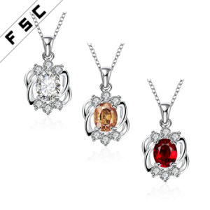 Fashion Artificial Jewelry Silver Plated Elegant Pendant Necklace for Party pictures & photos