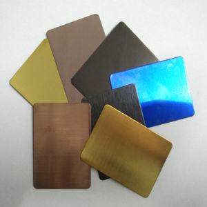 Steel Products No. 8 Mirror Copper Color Stainless Steel Sheet pictures & photos