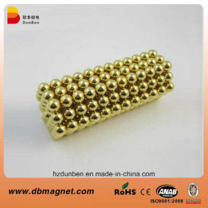 Golden D5mm Neodymium Magnet Neocube Sale pictures & photos