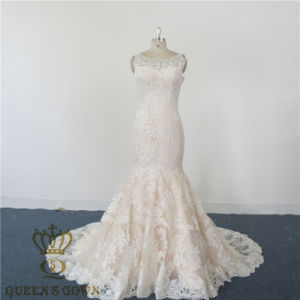 2017 Latest Mermaid Sexy Wedding Dress. Heavy Lace Beaded Wedding Gowns Bride Dresses Party Evening Formal Dress Bridal Dress