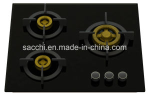 Supreme Built- in Gas Hobs with 3 Full Brass Burners (8mm glass) pictures & photos