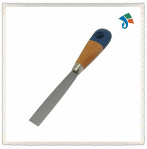 20mm Blue Head Wooden Handle Carbon Steel Blade Putty Knife Scraper pictures & photos